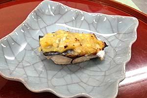 鯖の葱味噌焼き