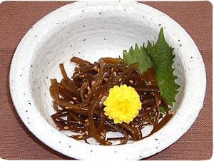 ワカメ茎の キンピラ