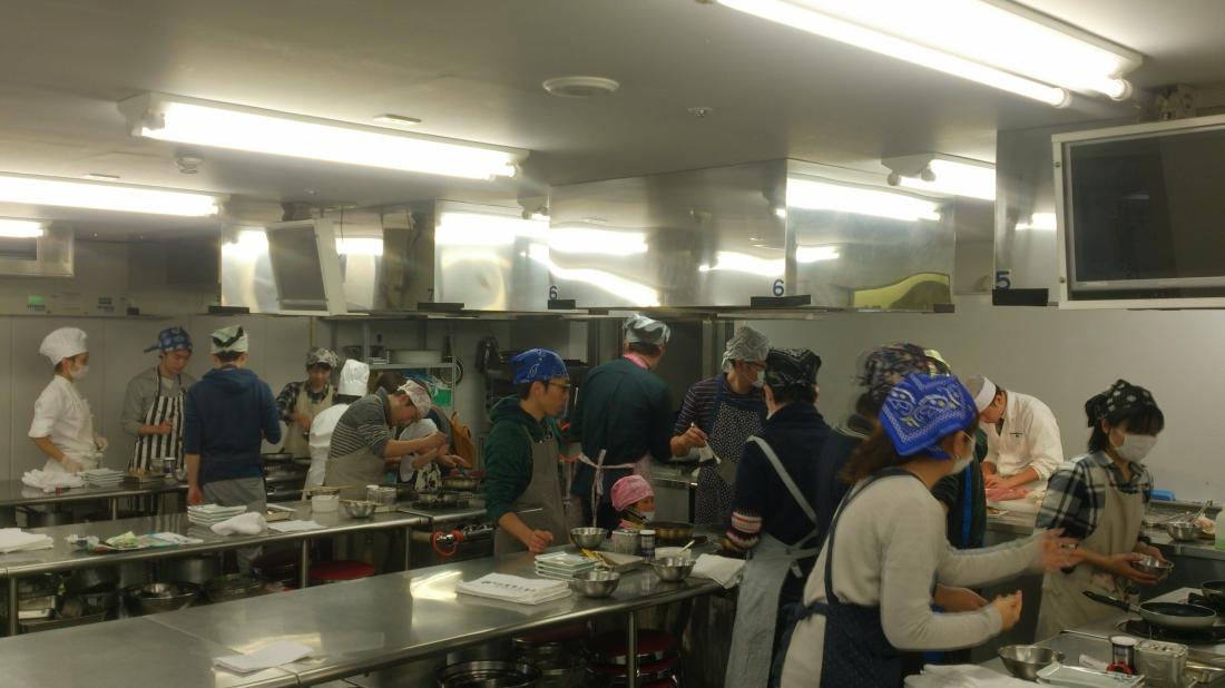料理教室体験の様子